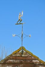 Photo of Cricket Player Weathervane, by Harry Griswold